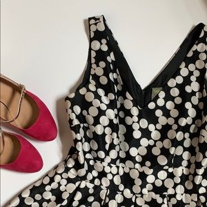 Polka dot party dress - fit and flare